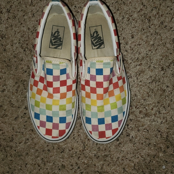 rainbow vans size 8